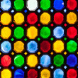 Multicolor stained window glass — Stock Photo