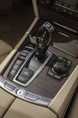 Sports car gear shifter — Stock Photo