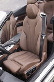 Sports car leather seats — Stock Photo
