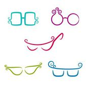 Set of vector glasses — Stock Vector