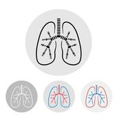 人間の肺のシンボル - ベクトル図 — ストックベクタ