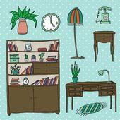 Furniture - Set of design elements — Stock Vector