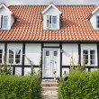 Half-timbered house in Denmark — Stock Photo