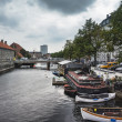 Frederiksholms Canal in Copenhagen, Denmark - Stock Photo