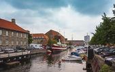 Canal de frederiksholms en copenhague, dinamarca — Foto de Stock