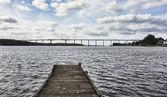 The high bridge between Svendborg and Taasinge, Denmark — Stock Photo