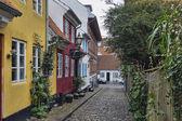 Aalborg, Denmark, narrow streets — Stock Photo
