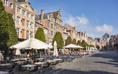Oude Markt (Old Square) in Leuven, Belgium — Stock Photo