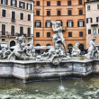 Poseidon fountain , Navona square Rome — Stock Photo