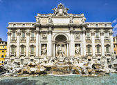 Fontana Trevi - the most famous of Rome — Stock Photo