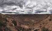 Panoramic view of Meteor Crater in Arizona — Stock Photo