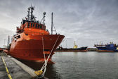 Pobřežní přístav esbjerg, dánsko — Stock fotografie