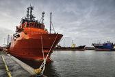 Porto offshore em esbjerg, dinamarca — Foto Stock