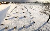 Overblijfselen van een hal van de koningen van 300 ac, gudme. denemarken — Stockfoto