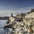 Harbor of Valetta with Bell Tower Memorial, Malta — Stock Photo