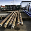 Drilling pipes for oil - Stock Photo