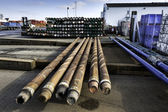 Drilling pipes for oil — Stock Photo