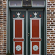 Old skewed door in Ribe, Denmark — Stock Photo