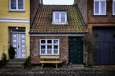 The smallest house in Ribe, Denmark — Stock Photo