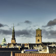 Copenhagen roof tops, Denmark — Stock Photo