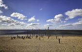 Beach promenade yakın esbjerg, danimarka — Stok fotoğraf