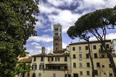 Lucca, Tuscany - View over Old Town (Italy) — Stock Photo