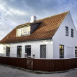 Stock Photo: White house in center of Skagen in jutland