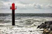 Entrada al puerto pesquero de thorsminde, dinamarca — Foto de Stock