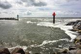 Entry to Thorsminde fishing harbor, Denmark — Stock Photo
