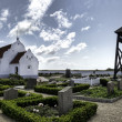 Stock Photo: Church on Mando in wadden sea, Denmark