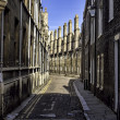 Row of characteristic English houses in Cambridge, UK — Stock Photo