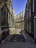 Row of characteristic English houses in Cambridge, UK — Stock Photo