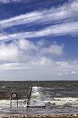 Pier in esbjerg, denemarken — Stockfoto