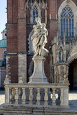 Cathedral (katedra) on Tumski island in Wroclaw, Poland — Stock Photo