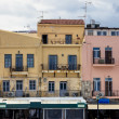 Houses at harbor in Chania, Crete — Stock Photo #31723175