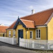 Stock Photo: Yellow house in center of Skagen in jutland