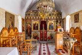 Interior de iglesia minimalista en creta en grecia — Foto de Stock