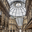Shopping art gallery in Milan. Vittorio Emanuele II, Italy — Stock Photo