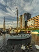 The Ernst Busch platz Kiel harbour, Germany — Stock Photo