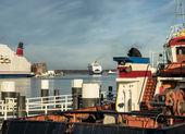The harbor in Kiel, Germany — Stock Photo