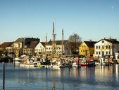 ドイツでは、旧港 eckernfoerde — ストック写真
