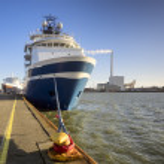 Supply ships Esbjerg oil harbor, Denmark — Stock Photo #37899665