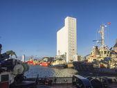 Panorama portu oleju w esbjerg, dania — Zdjęcie stockowe