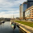The Ernst Busch platz Kiel harbour, Germany — Stock Photo #38463691