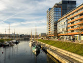 The Ernst Busch platz Kiel harbour, Germany — Stock Photo