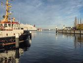 El puerto de kiel, alemania — Foto de Stock