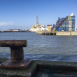 Panoramof Esbjerg oil harbor with rig, Denmark — Stock Photo #41104151