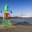 Panoramof Esbjerg oil harbor with rig, Denmark — Stock Photo #41104189