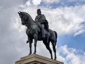 Garibaldi monument på gianicolo i rom, italien — Stockfoto