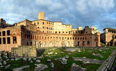 Trajan forum market in Rome — Stock Photo